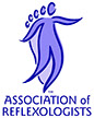 logo of the Association of Reflexologists of which Lesley Cook is a qualified member.